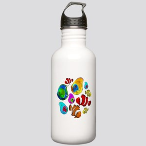 Tropical Fishes Pattern Water Bottle